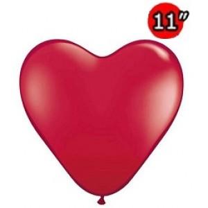 "Heart 11"" Ruby Red , QL11HJ43732 (0)"