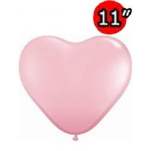 """Heart 11"""" Std Pink , QL11HS43727"""
