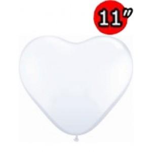 "Heart 11"" Std White , QL11HS43735 (2)"