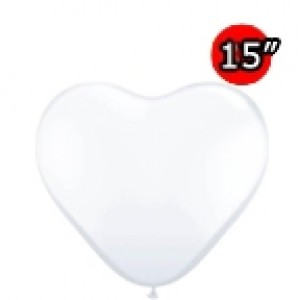 "Heart 15"" Diamond Clear (50ct) , *QL15HF25206"