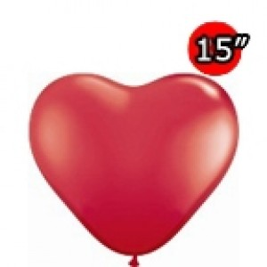 "Heart 15"" Std Red (50ct) , *QL15HS24663"