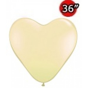 "Heart 36"" (3') Ivory Silk (2ct) , *QL36HJ44483"