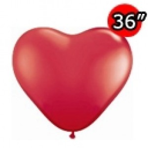 "Heart 36"" (3') 心形 Std Red (2ct) , *QL36HS44353"
