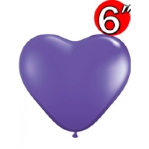 "Heart  6"" Purple Violet , QL06HF13791"