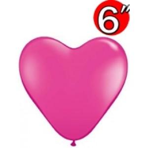 "Heart 6"" Wild Berry , QL06HF30213 (0)"