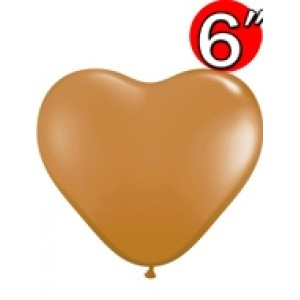 "Heart  6"" Mocha Brown , QL06HF62589"