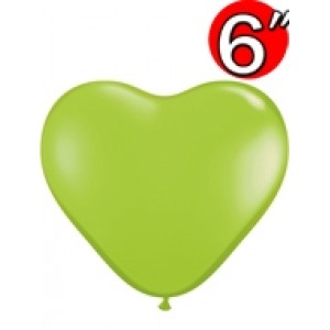 "Heart 6"" Lime Green , QL06HF62590 (0)"