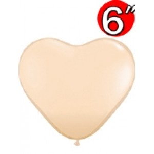 "Heart  6"" Blush , QL06HF92526"