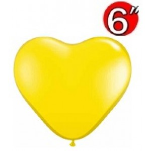 "Heart  6"" Citrine Yellow , *QL06HJ43634"