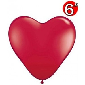 "Heart  6"" Ruby Red , *QL06HJ43647"