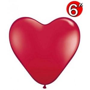 "Heart 6"" Ruby Red , QL06HJ43647 (0)"