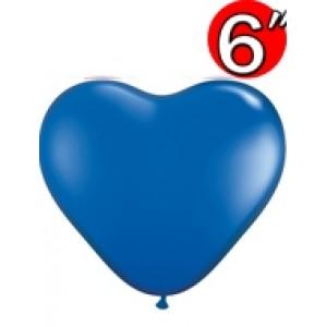 "Heart  6"" Sapphire Blue , *QL06HJ43649"