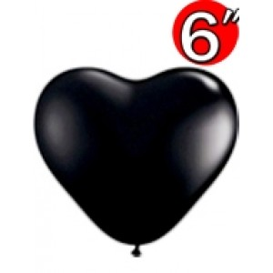 "Heart  6"" Onyx Black , *QL06HJ60572"