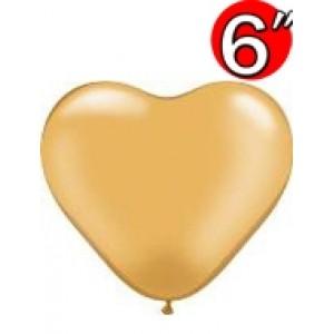 """Heart 6"""" Gold , QL06HP17726 (3)"""