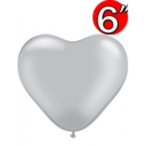 "Heart  6"" Silver , QL06HP17727"