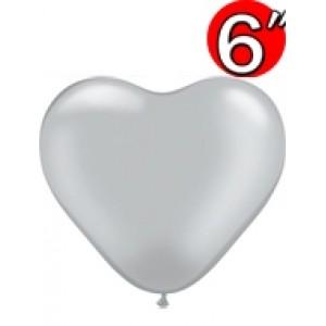 """Heart 6"""" Silver , QL06HP17727 (0)"""