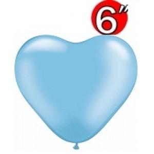 "Heart  6"" Pearl Azure , *QL06HP17729"