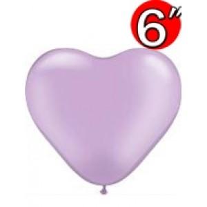 """Heart  6"""" Pearl Lavender , *QL06HP17730"""