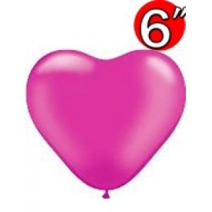 "Heart  6"" Pearl Magenta , *QL06HP17733"