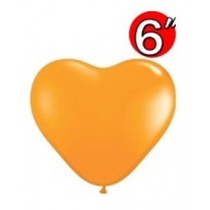 "Heart  6"" Std Orange , *QL06HS13764"