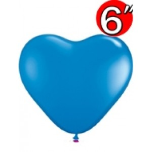 "Heart  6"" Dark Blue , *QL06HS13792"