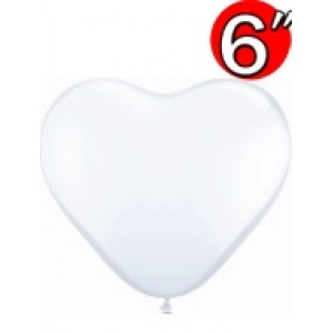"Heart  6"" Std White , QL06HS43651"
