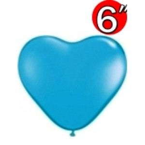 "Heart  6"" Std Pale Blue , QL06HS60189"