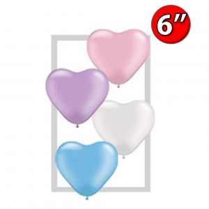 "Heart Assortment  6"" 心形 - Pearl , *QL06HP17741"