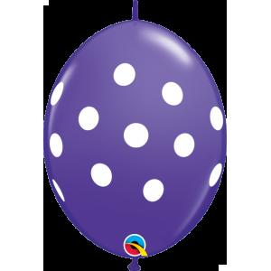 "6"" QL-Big Polka Dots - Purple Violet (50ct) , #QL06LI32024-P"