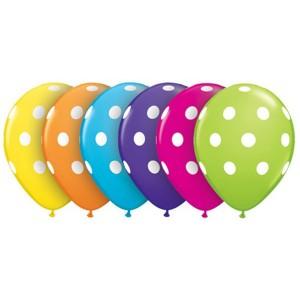 """5"""" Big Polka Dots (LAL) - Tropical Assortment, QL05RI36711 (0)"""
