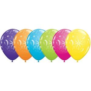 "11"" Sparkle Balloons (TW) - Tropical Assortment (50ct) , QL11RI39088 (0)"