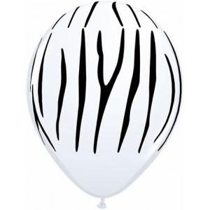 """11"""" Zebra Stripes (TV) - White (50ct) , QL11RI55477 (0)"""