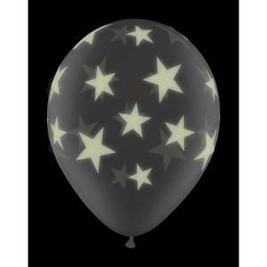 """11"""" Glow Stars-A-Round (VH) - Diamond Clear (25ct) , QL11RI73994 (0)"""