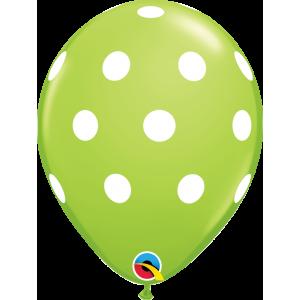"5"" Big Polka Dots (LAL)- Lime Green , (100 ct) QL05RI36711(C)-L (D)"