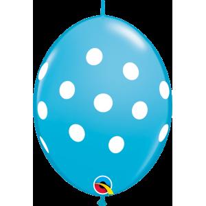 "6"" QL-Big Polka Dots - Robin's Egg (50ct) , #QL06LI32024(C)-R"