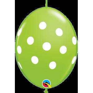 "6"" QL-Big Polka Dots - Lime Green (50ct) , #QL06LI32024(C)-L"