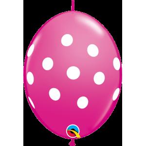 """6"""" QL-Big Polka Dots - Wild Berry (50ct) , #QL06LI32024(C)-W"""