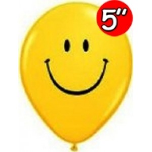 "5"" Smile Face (UI) - Yellow (100ct), QL05RI39270 (2)"