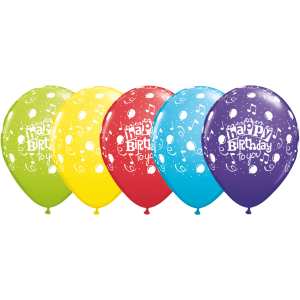 "11"" Happy Birthday To You Balloon (TW) -  Assorted Color (50ct) , QL11RI11853 (0)"