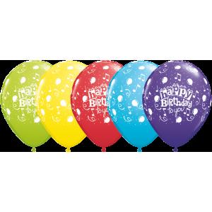 "11"" Assortment - Happy Birthday To You Balloon (50ct) , *QL11RI11853"