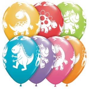 "11"" Cute & Cuddly Dinosaurs (TW) - Festive Assortment (50ct) , QL11RI40201 (0)"