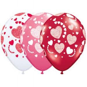 "11"" Etched Heart-A-Roundt (TW) - Love Assortment (50ct) , QL11RI76861 (0)"