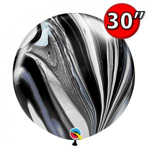 "30"" SuperAgate - Black & White (2 ct.) , QL30RAG35206 (0)"