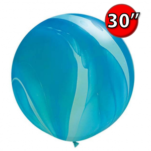 "30"" SuperAgate (25 Bags/ Case) - Blue Rainbow , **QL30RAG63756"