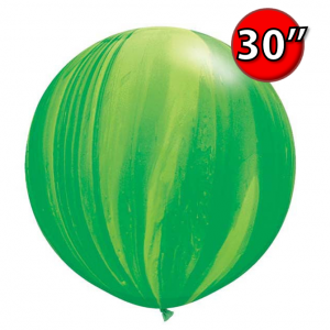 """30"""" SuperAgate (25 Bags/ Case) - Green Rainbow , **QL30RAG63757"""