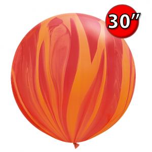 """30"""" SuperAgate (25 Bags/ Case) - Red Orange Rainbow , **QL30RAG63759"""