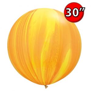 """30"""" SuperAgate (25 Bags/ Case) - Yellow Orange Rainbow , **QL30RAG63760"""