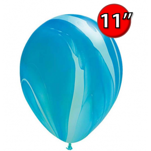 "11"" SuperAgate (40 Bags/ Case) - Blue Rainbow , **QL11RAG91538"