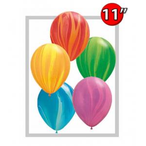 "11"" SuperAgate - Rainbow Assortment (100 ct), QL11RAG91544 (0)"