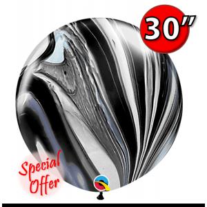 "30"" SuperAgate (2 ct.) - Black & White , QL30RAG35206"